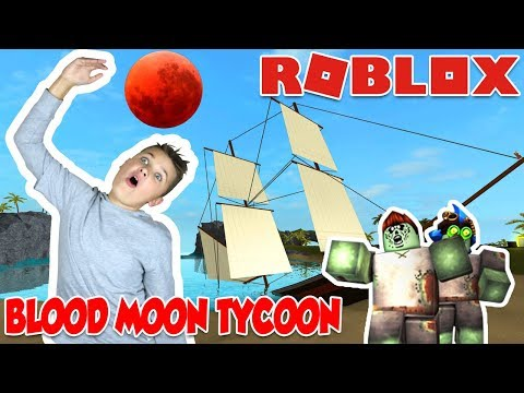 ME AND DAD AGAINST ZOMBIE APOCALYPSE! / ROBLOX BLOOD MOON TYCOON