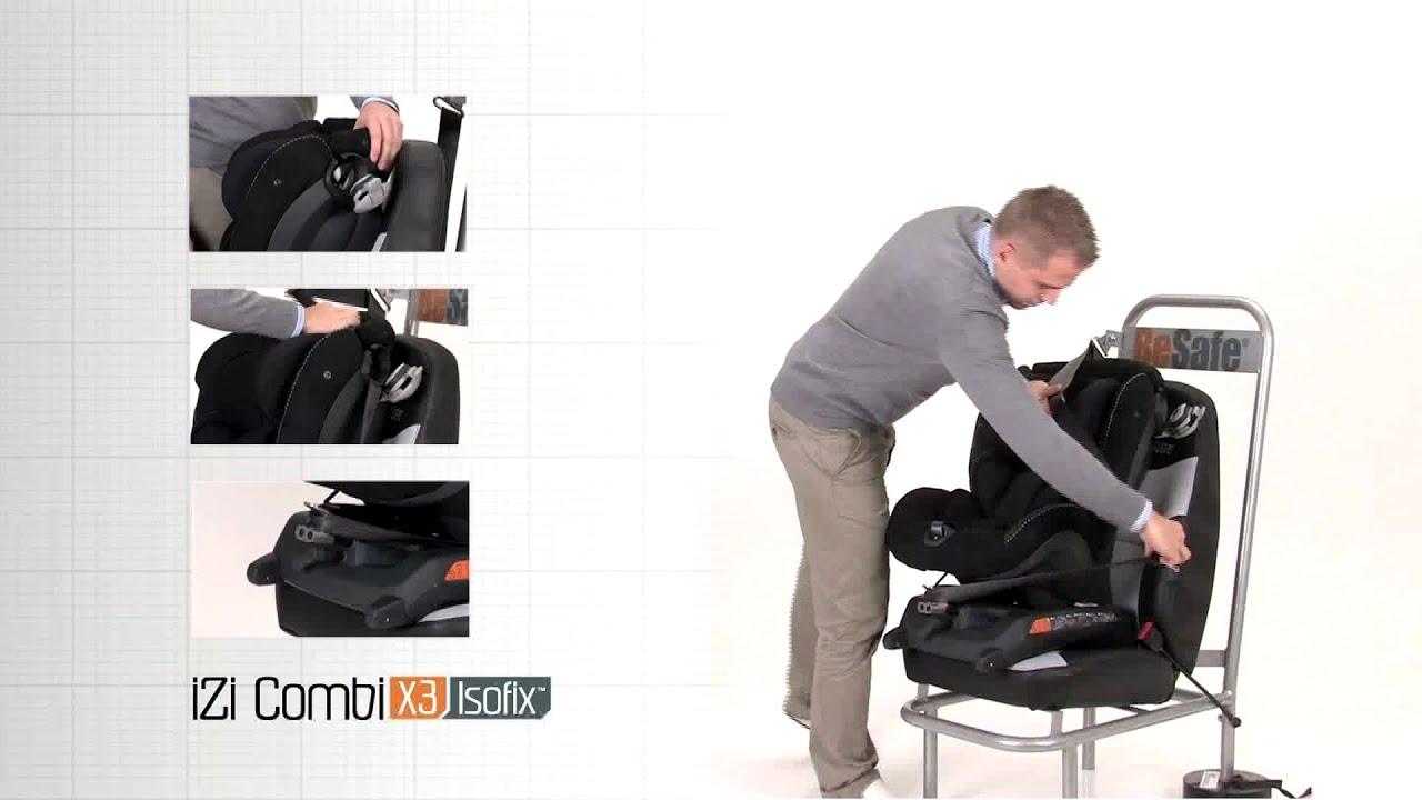 montering av besafe izi combi x3 med isofix youtube. Black Bedroom Furniture Sets. Home Design Ideas