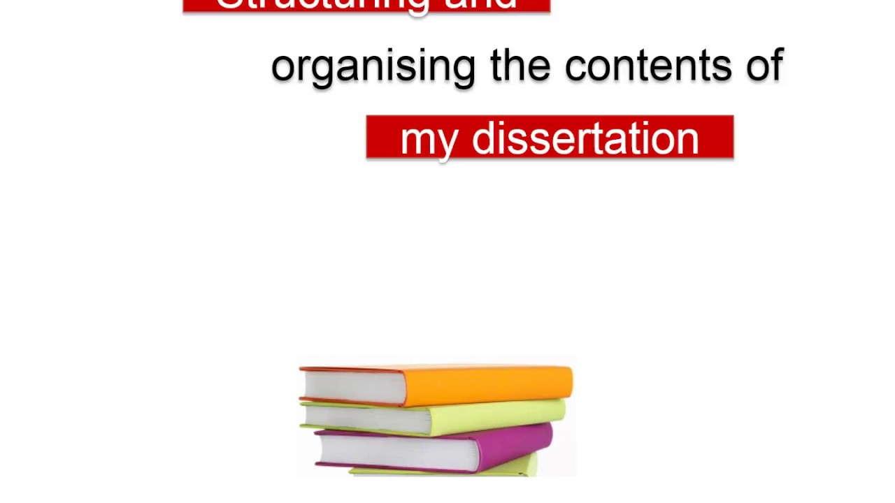 organizing dissertation Writing a dissertation requires extensive organization skills effectively managing numerous articles, data, documents, files, instructions, and processes.