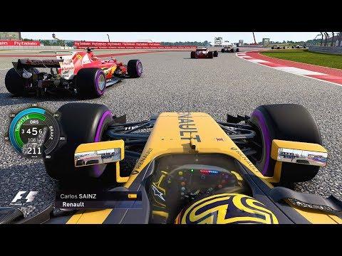 2017 US GP Carlos Sainz Renault: LAST TO ? CHALLENGE F1 Game
