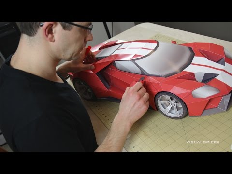 Building the 2016 Ford GT inspired DIY papercraft model
