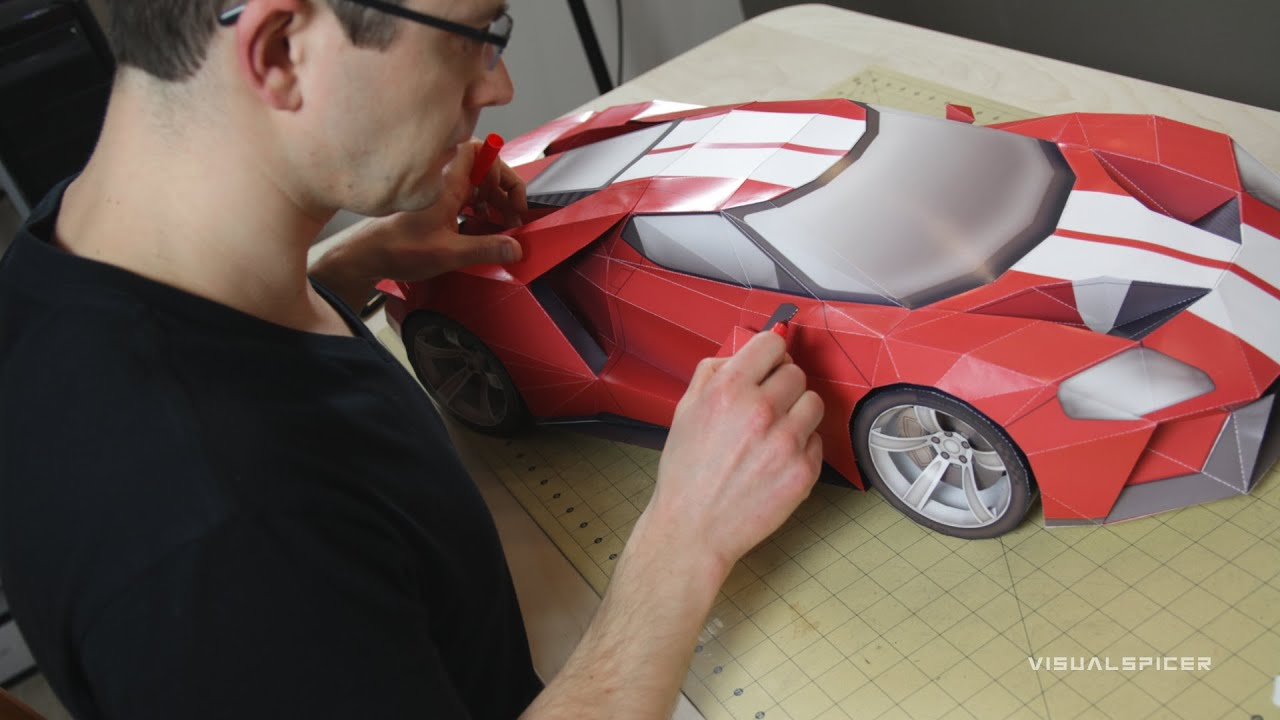 Building The  Ford Gt Inspired Diy Papercraft Model