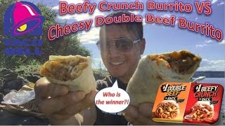 Video Taco Bell Beefy Crunch Burrito VS Cheesy Double Beef Burrito download MP3, 3GP, MP4, WEBM, AVI, FLV Agustus 2018