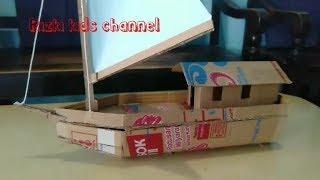 Diy Kapal Nelayan Dari Kardus - Cara Membuat Kapal Nelayan Dari Kardus - Diy Toy