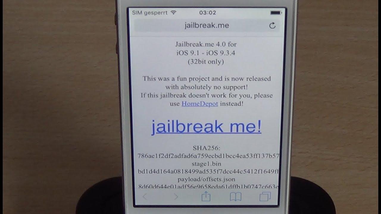 [ENG] Jailbreak.me 4.0 for iOS 9.1-9.3.4 – iPhone / iPad / iPod (32bit)