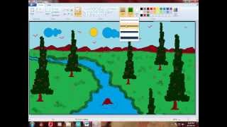 How To Draw a Scenery using Paint Brush