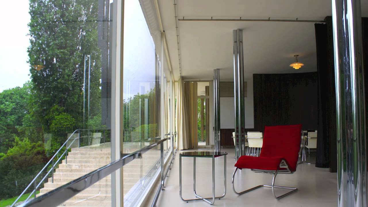 villa tugendhat mies van der rohe philip glass youtube. Black Bedroom Furniture Sets. Home Design Ideas