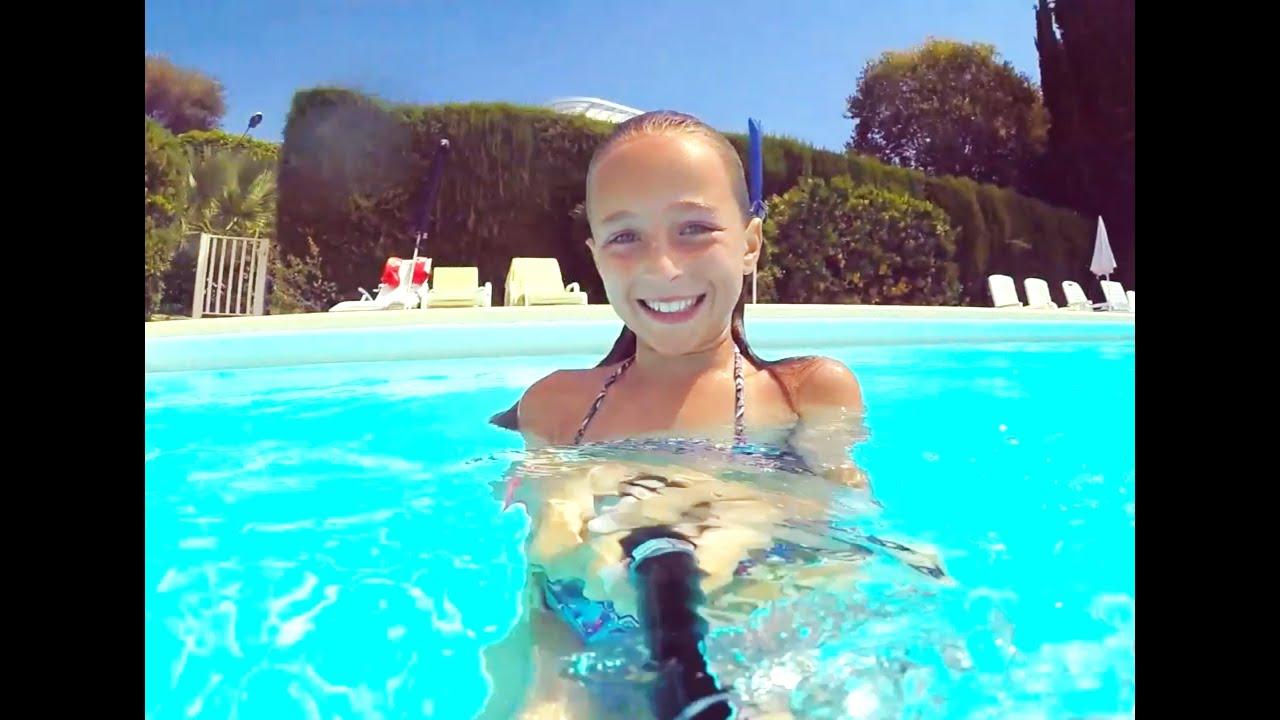 Julia is swimming underwater nude in the sea - 1 9