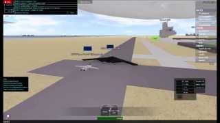 ROBLOX Military Flight Sim: B2 Spirit Escorted by F-14 Tomcat