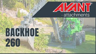 Backhoe 260, Avant 300-700 Series attachment Thumbnail