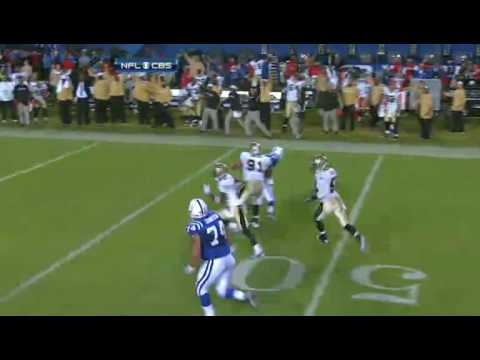 Super Bowl 44 Tracy Porter interception!!!!
