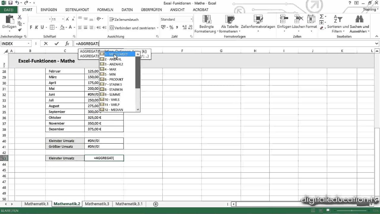 Excel Fortgeschrittene