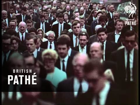 Crowds Over London Bridge 1968