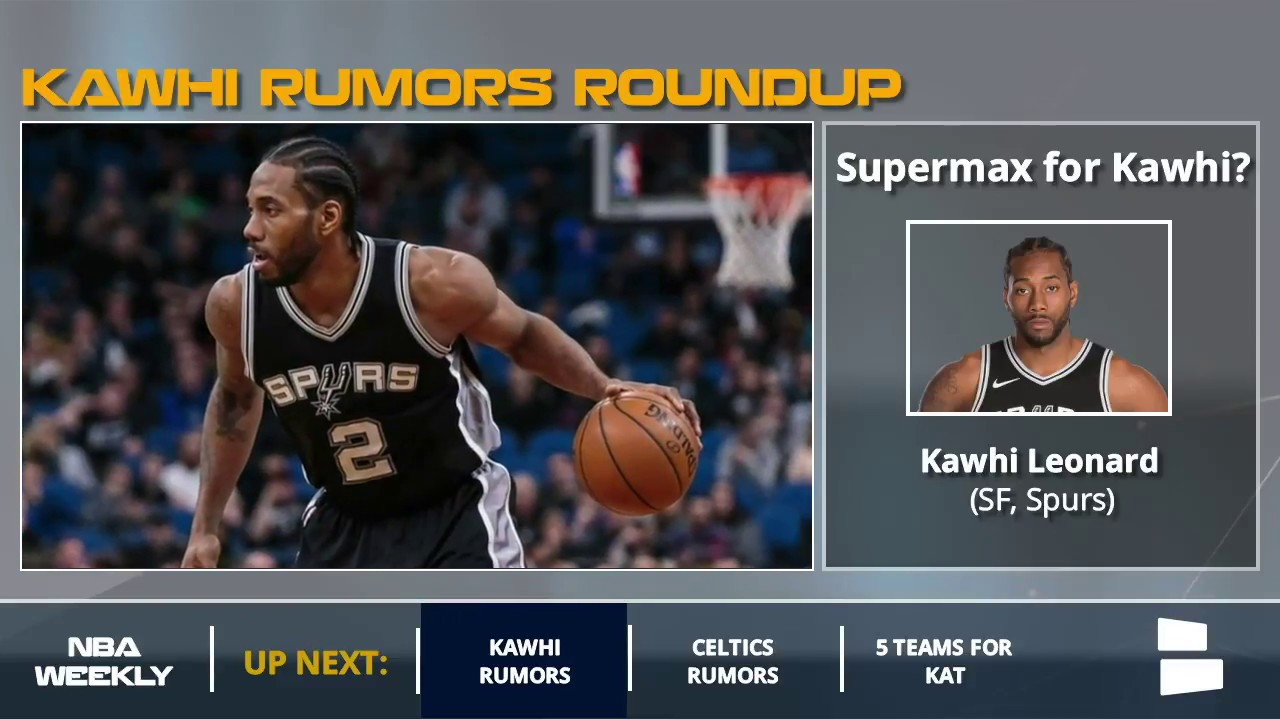 86017f91af0 Kawhi Leonard Rumors  Spurs May Offer A Supermax Contract