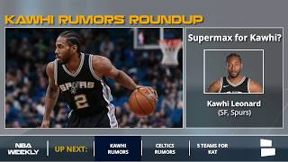 Kawhi Leonard Rumors Spurs May Offer A Supermax Contract Will Only Trade For Blockbuster Offer