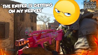 """""""THE KNIFER IS GETTING ON MY NERVES"""" (Modern Warfare Knife Only Reactions)"""
