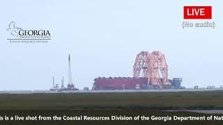 VB-10,000 Crane Arrives In St. Simons Sound