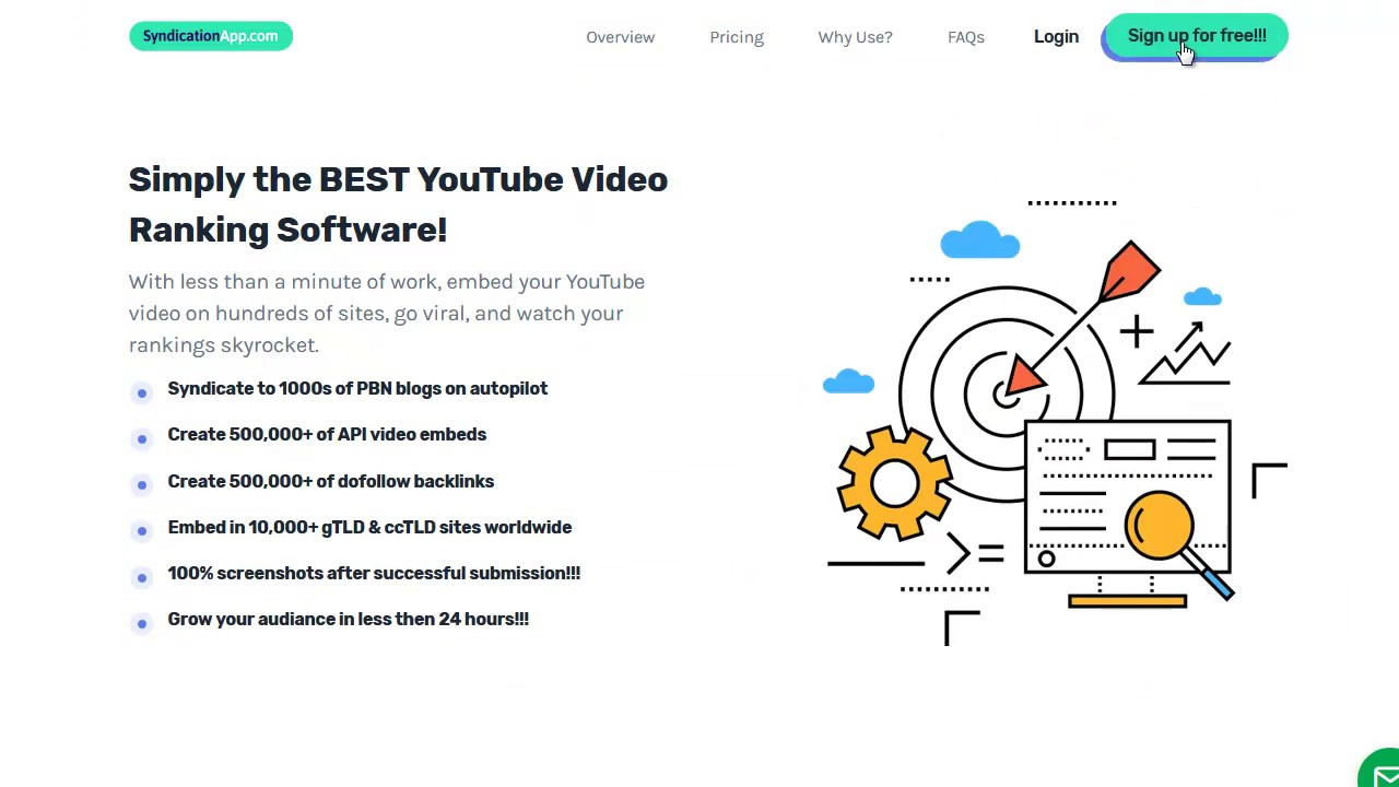 Free YouTube video backlink generator by syndicationapp v3 0