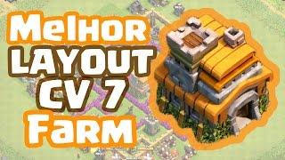 Melhor LAYOUT de FARM de CV 7 | Clash of Clans