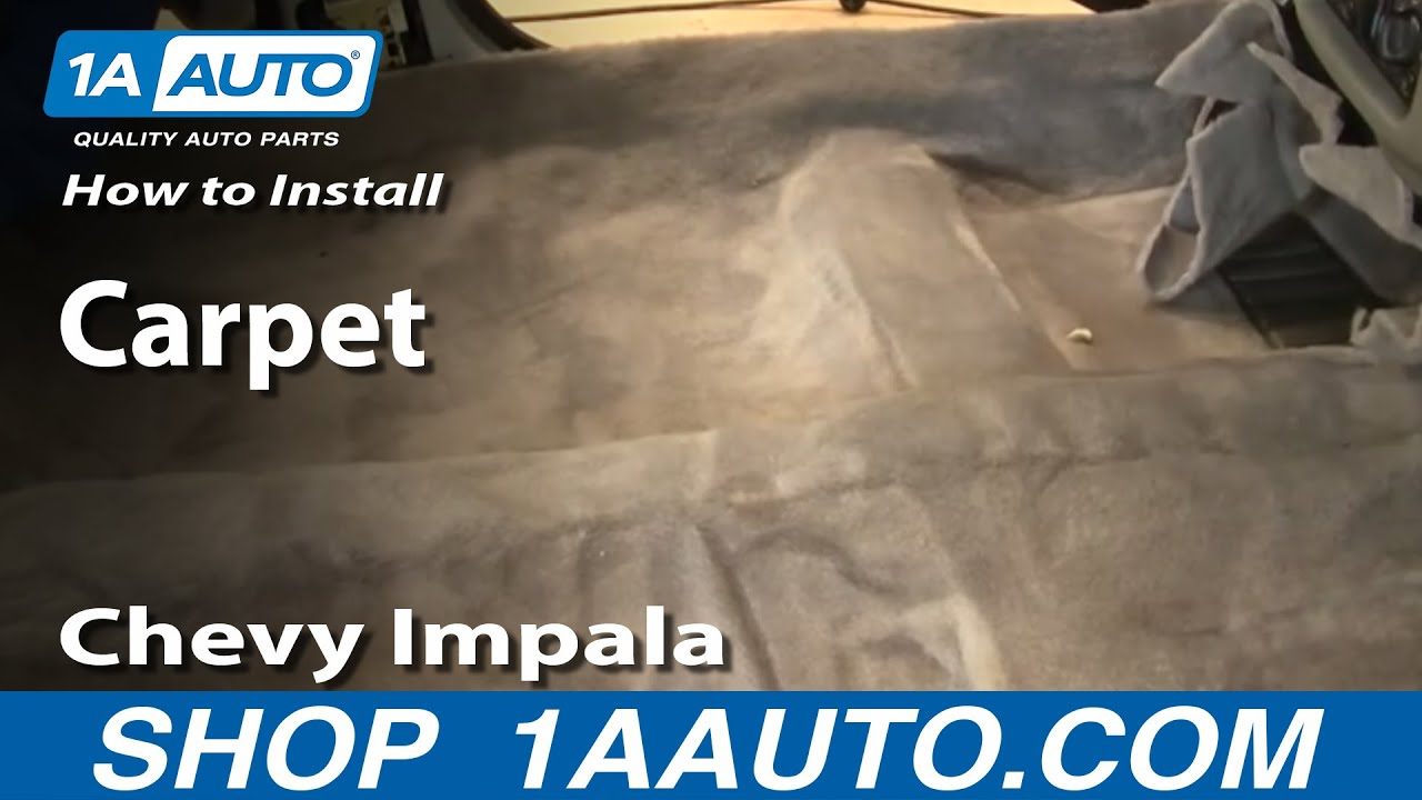 how to install auto carpet part 2 chevy impala 2000 05 youtube. Black Bedroom Furniture Sets. Home Design Ideas