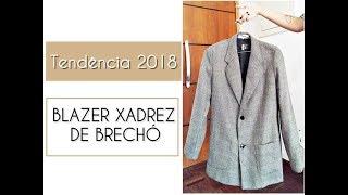 BLAZER XADREZ DE BRECHÓ - COMO USAR!
