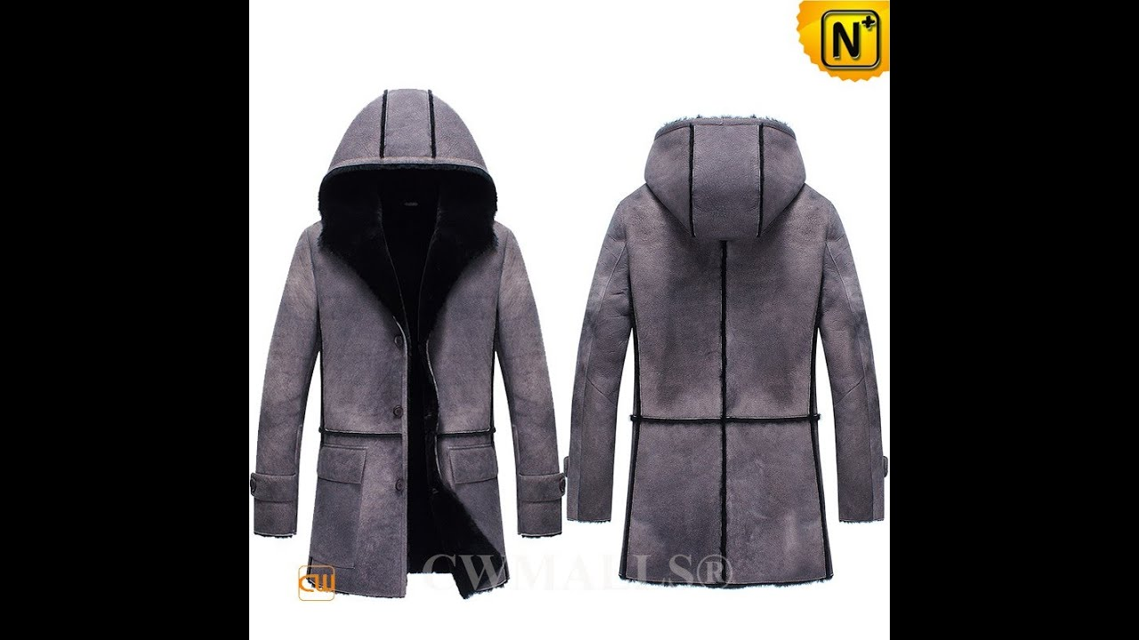 Men's Vintage Shearling Leather Parka CW836053 | jackets.cwmalls ...