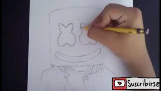 Dibujando a Dj Marshmello