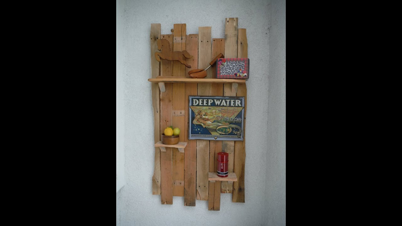 How To Make A Decorative Hanging Shelf From Pallets Slideshow The DIY Magician