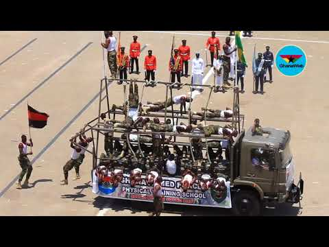 61st Independence Parade: Display by Ghana Armed Forces Physical Training School