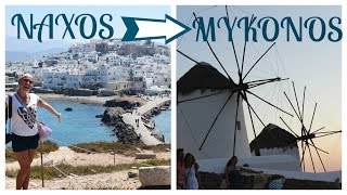 TRAVELING FROM NAXOS TO MYKONOS // GREECE