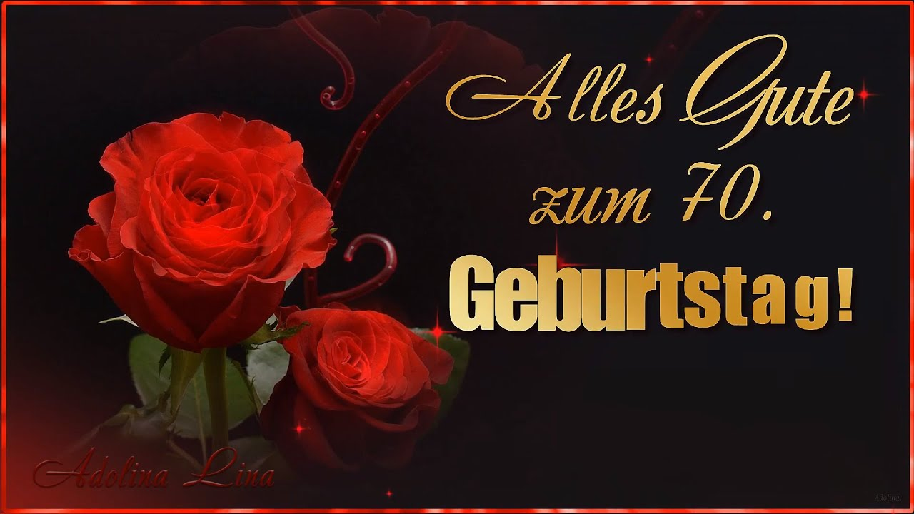 Gruss Und Co Glanz Glitzer Karte 70 Geburtstag Von Herzen
