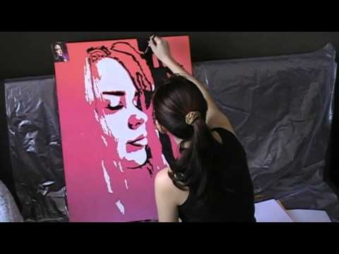 Портрет девушки в стиле поп-арт