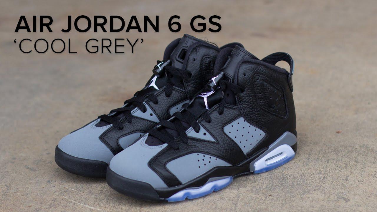 info for 01d6e e32c6 Air Jordan 6 GS 'Cool Grey' Quick Look