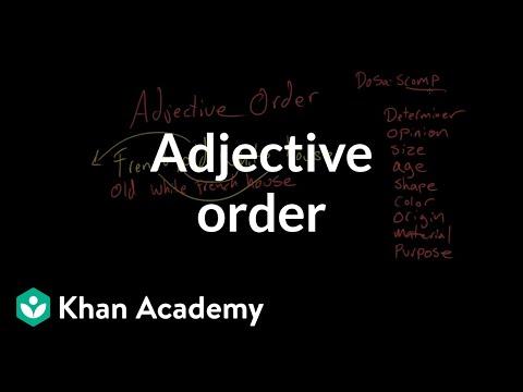 Adjective order | The parts of speech | Grammar | Khan Academy