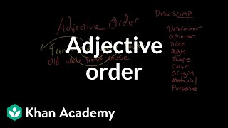 Adjective order | Modifiers | The parts of speech