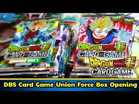 [DBS] Dragon Ball Super Card Game Union Force Box Opening!