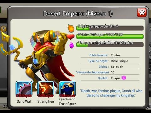 [COZ 136] Emperor Desert dans clash of zombies