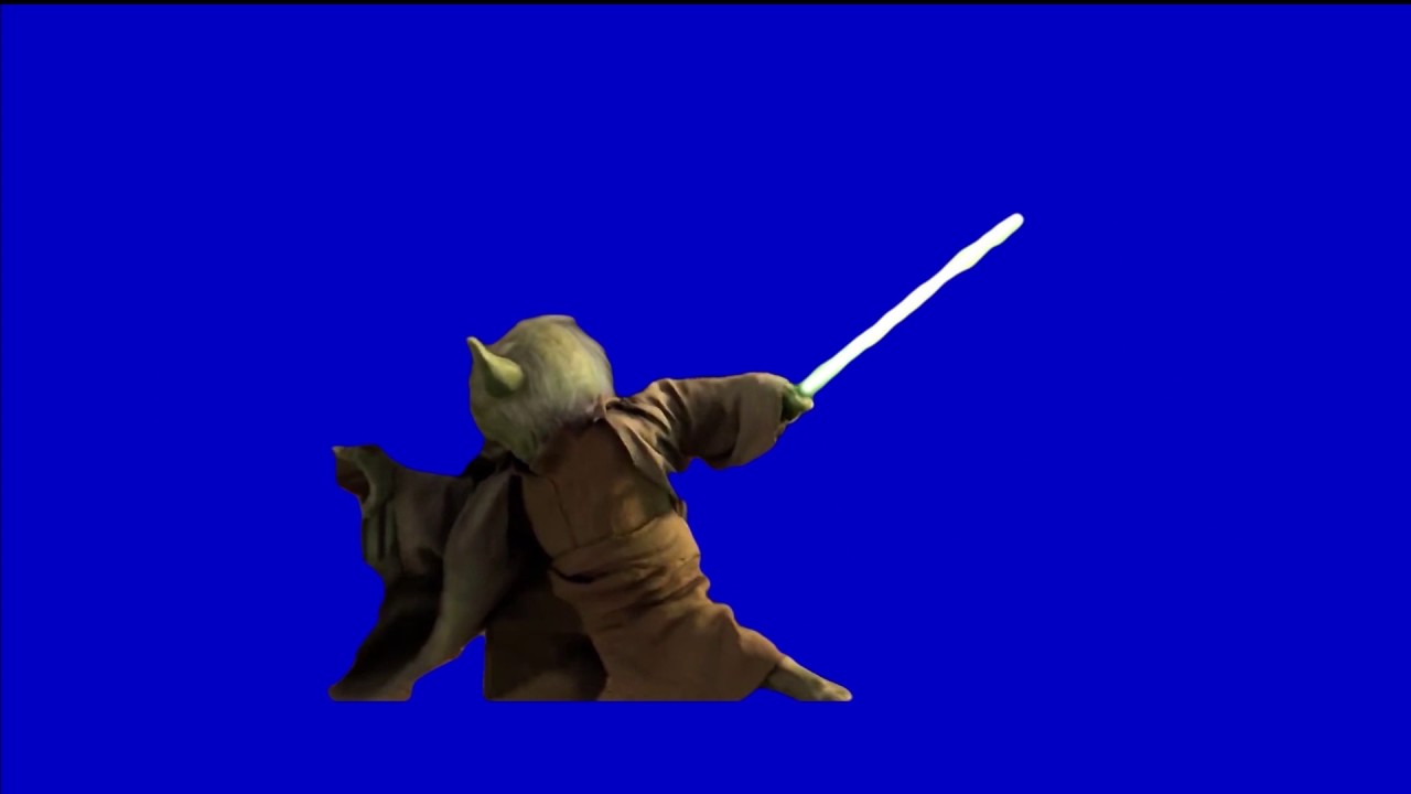 Star Wars Green Screen Yoda Fighting From Revenge Of The Sith Youtube