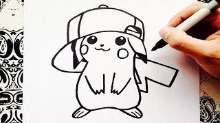 como dibujar a pikachu | how to draw pikachu | como desenhar pikachu