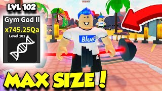BECOMING THE BIGGEST PLAYER IN LIFT LEGENDS SIMULATOR!! *MAX SIZE* (Roblox)