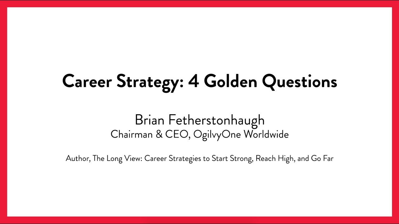 career strategy four golden questions career strategy four golden questions