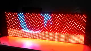 Full color RGB Renkli LED Tabela
