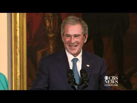 Michelle promises to save Bush's portrait, like Dolley Madison