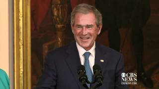 Video Michelle promises to save Bush's portrait, like Dolley Madison download MP3, 3GP, MP4, WEBM, AVI, FLV September 2017
