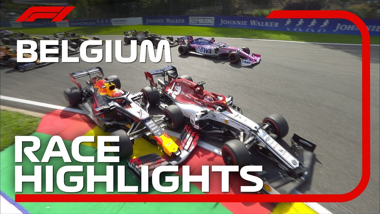 2019 Belgian Grand Prix Race Highlights Youtube