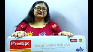 Unboxing of Prestige Omega Deluxe Induction Base Non-Stick Kitchen Set (3 Pieces+1 Glass Lid)-Review