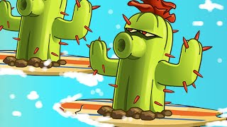 Plants vs. Zombies 2 - Big Wave Cactus!