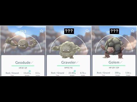Pokemon Go Geodude(753) to Graveler To Golem EPIC!!!! Evolution