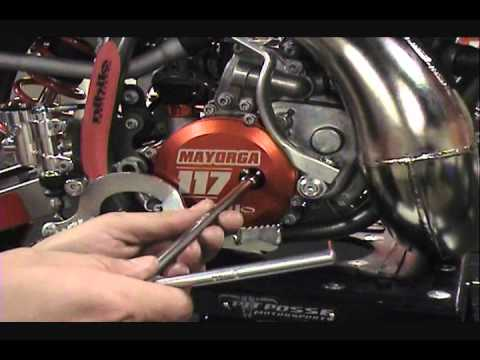 nihilo concepts 2013 ktm 50 clutch cover - youtube