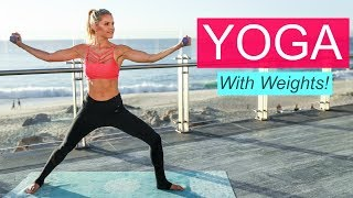Yoga with Weights - TONED & FLEXIBLE | Rebecca Louise